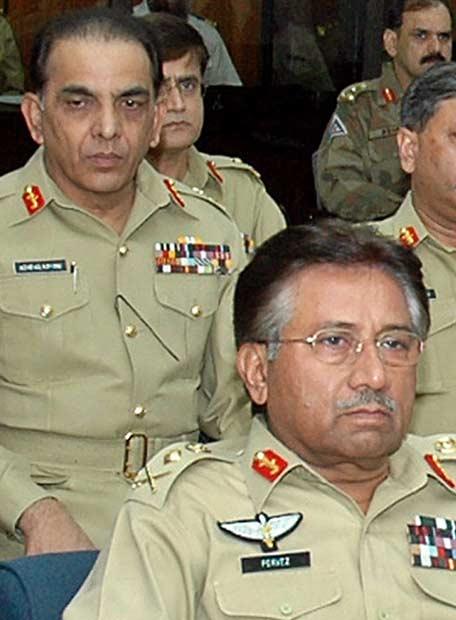 Musharraf y Kiani