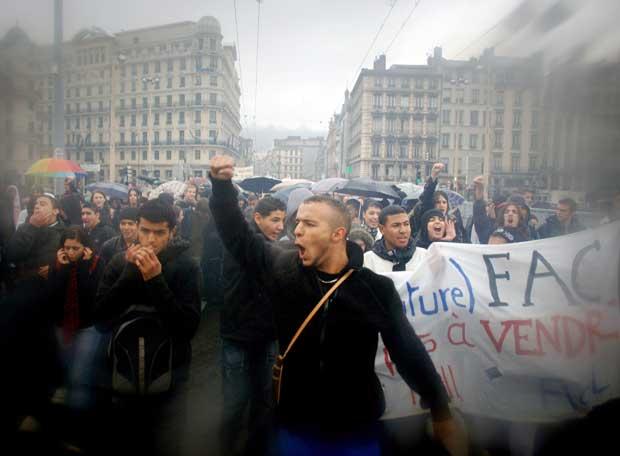 Manifestación contra la reforma universitaria en Francia