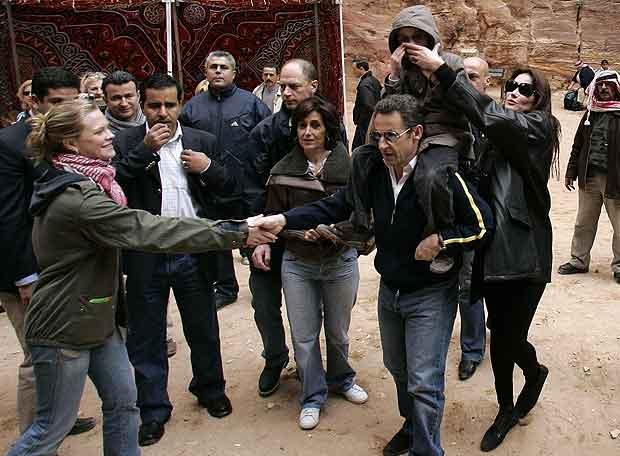 Sarkozy, con su novia en Petra