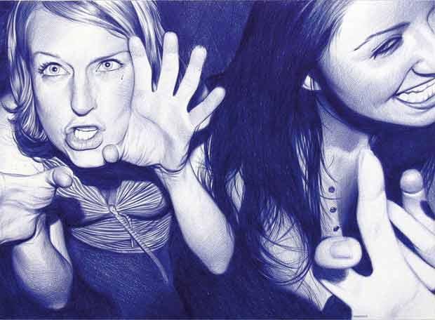 Dibujos de dos amigas del autor