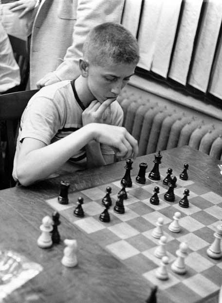 Fischer, en 1957, a los 14 años