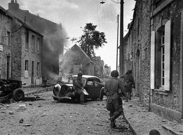 Soldados estadounidenses, en Normand�a