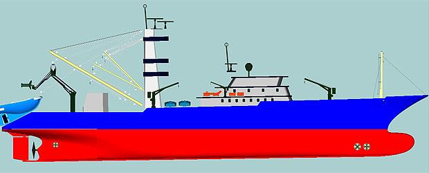 Simulación de un buque de pesca de nuevo cuño, en el que trabaja el proyecto español BAIP 2020.