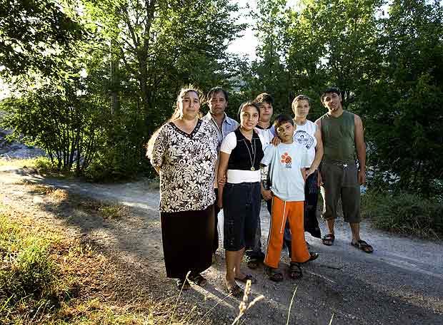 Toda la familia Covaciu, con Rebecca