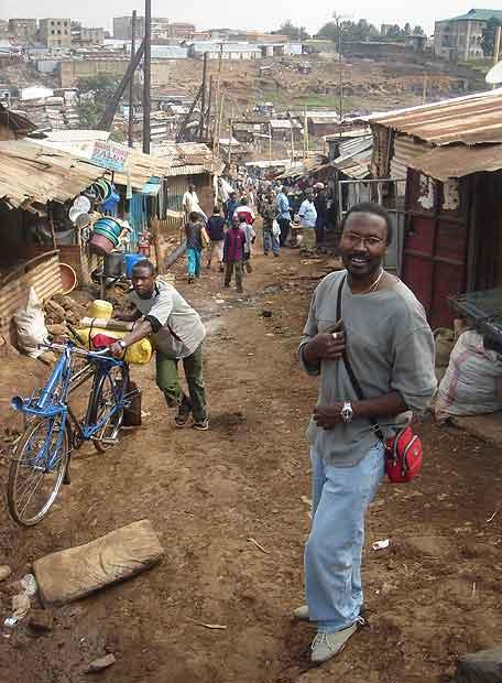 Sammy Gitau, en Mathare, la barriada de Nairobi donde trabaja