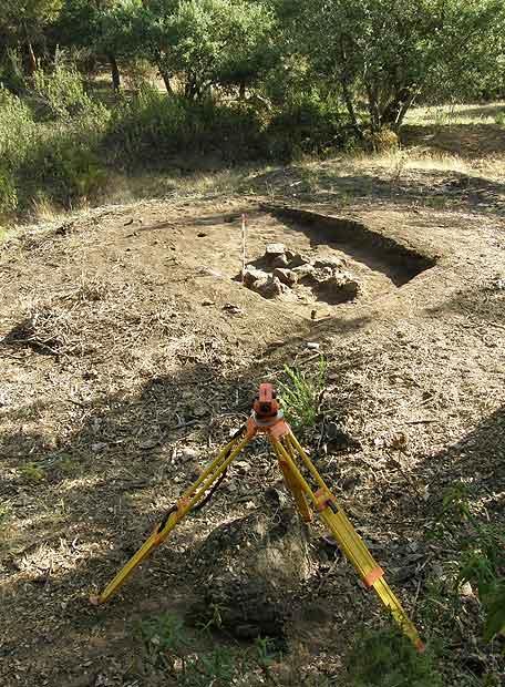 Emplazamiento de la fosa en la que aparecieron los 16 cadáveres de Grazalema