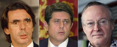 José María Aznar, Federico Trillo y Josep Piqué