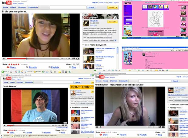 Cada vez más internautas anónimos se graban con la webcam