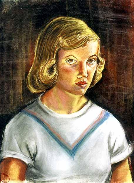 'Autorretrato' de Sylvia Plath en 1951
