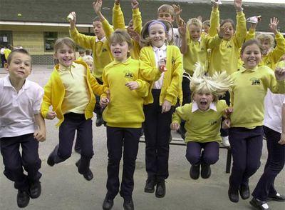 Alumnos de la escuela Kings Hill