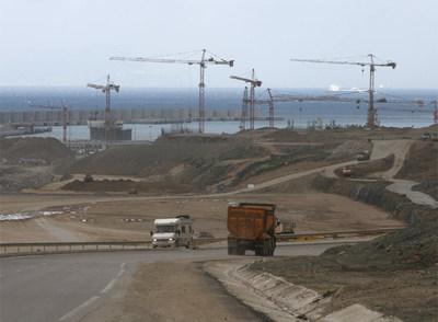 Obras del nuevo puerto Tánger Med