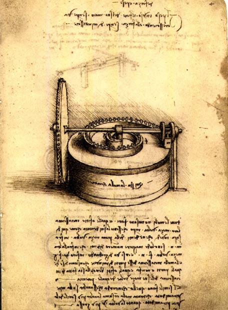 Facsímil de Leonardo Da Vinci