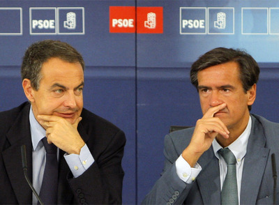 Zapatero y López Aguilar reunidos con los europarlamentarios electos