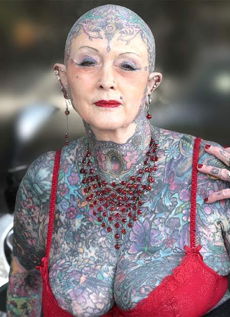 tiendas de tatuajes en bilbao. Isobel Varley, conocida en el mundillo como la mujer mayor con más tatuajes,