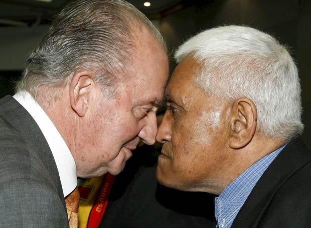 Saludo maorí del Rey don Juan Carlos