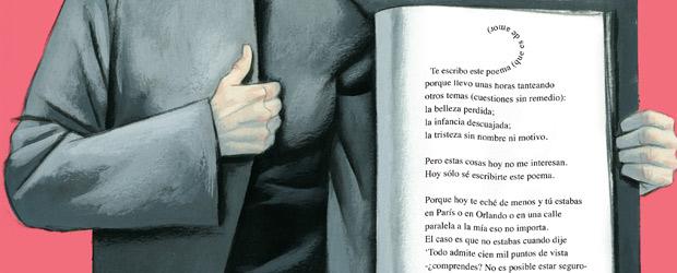 Ilustración alusiva a una poesía de Ben Clark