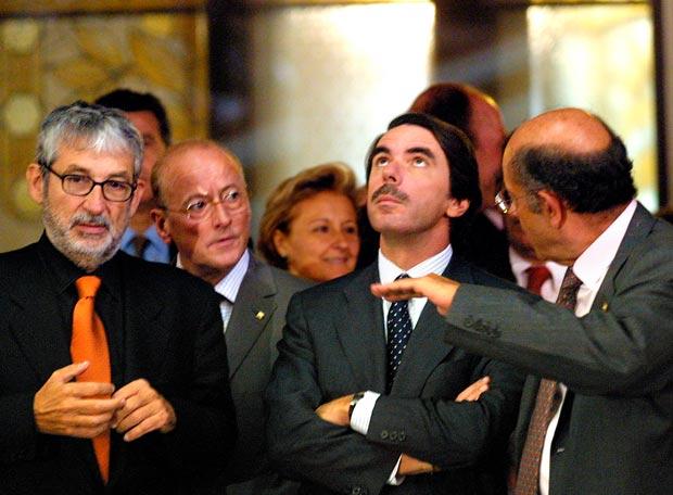 José Mª Aznar (PP) y Félix Millet