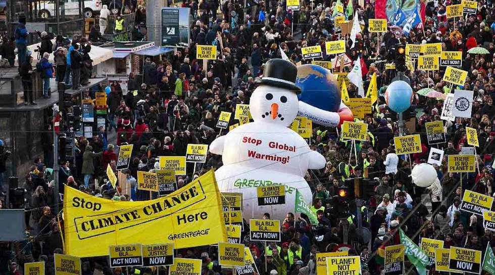 Marcha contra el cambio climático en Copenhague