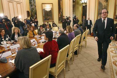 El ministro Ángel Gabilondo y los consejeros de educación
