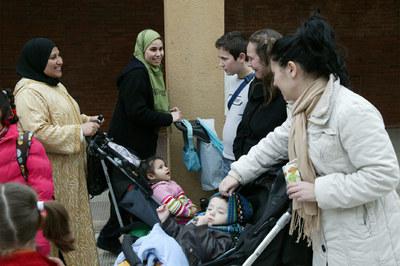 Madres inmigrantes  y españolas