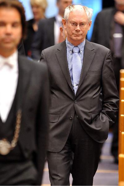 Herman Van Rompuy, el pasado miércoles en el Parlamento Europeo.- AFP