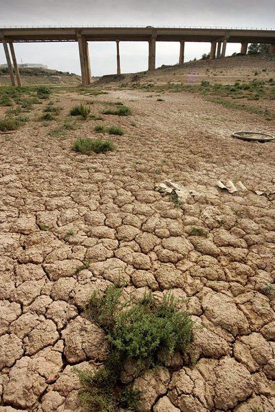 Efectos de la sequía en el embalse de María Cristina