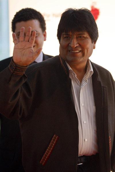 Evo Morales llega al estreno de la película de Oliver Stone.- ÁLVARO GARCÍA