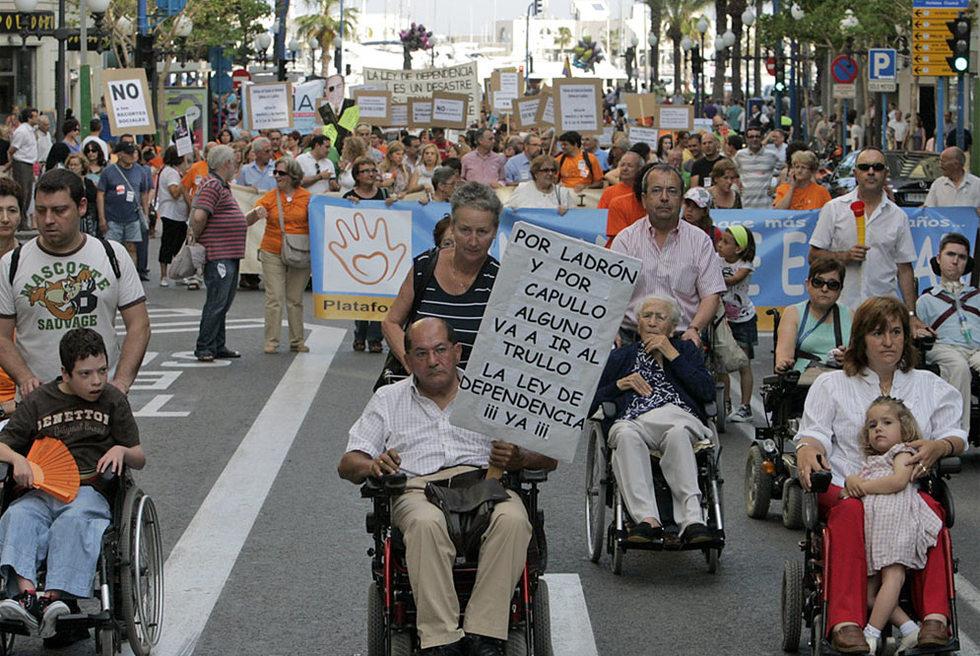 Manifestación por los retrasos de la Ley de Dependencia