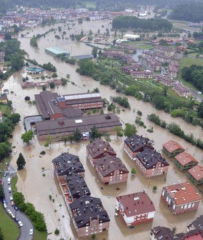 Inundaciones en Asturias
