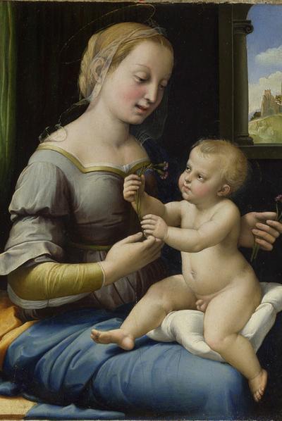 La Madonna de los  claveles de Rafael, redescubierta por medio de rayos infrarrojos-  NATIONAL GALLERY