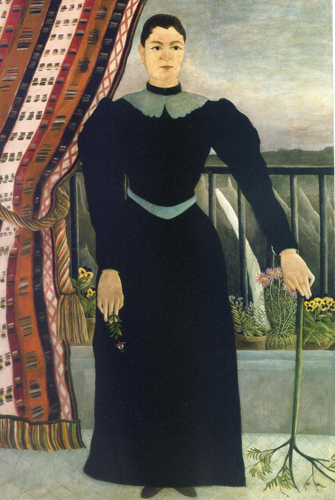 Portrait de femme (1895), de Henri Rousseau (Laval, 1844-París, 1910), se exhibe en en el Museo Guggenheim Bilbao