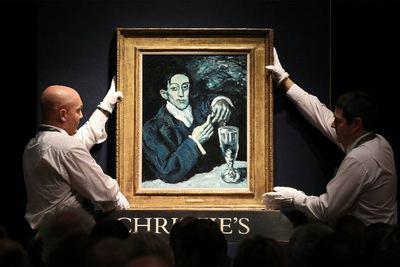 El bebedor de absenta, de Picasso, subastado el 24 de junio en Christie's de Londres.- GETTY