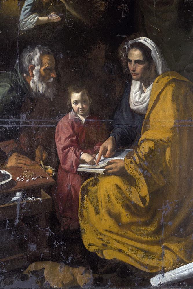 la Educación de la Virgen', hallada por John Marciari en Yale.PEIO