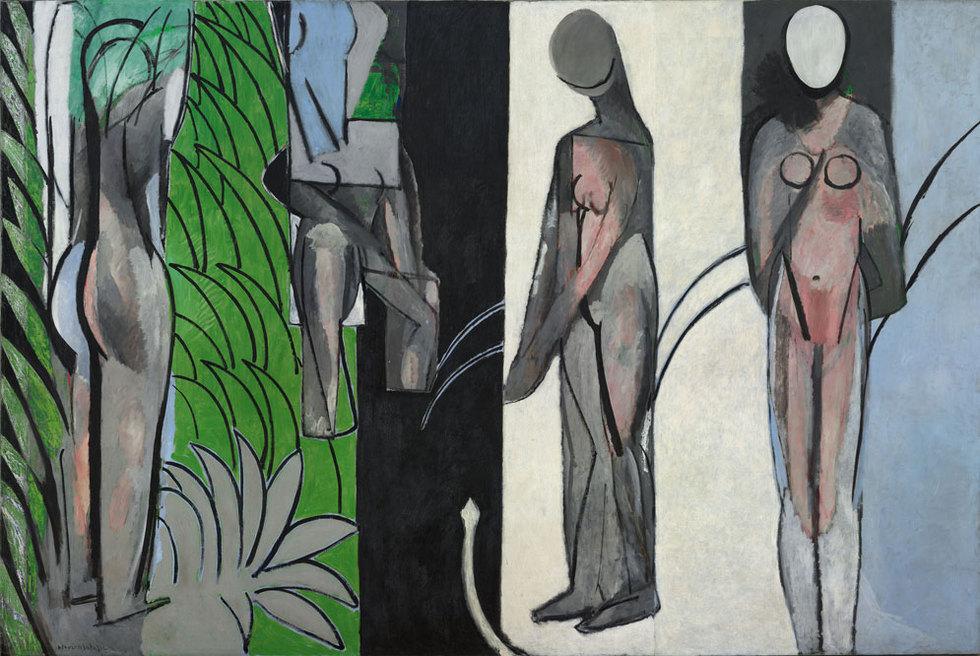Bañistas en el río (1909-1910), de Henri Matisse, cuadro cuya restauración ha inspirado la exposición del MoMA