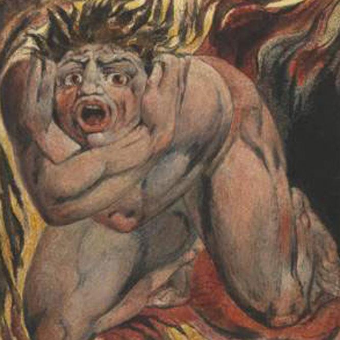Ilustración de William Blake para El libro de Urizen.- TATE BRITAIN