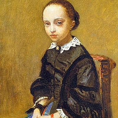 Retrato de una niña, de Corot.-