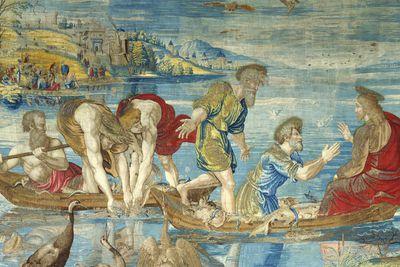 La pesca milagrosa, uno de los cuatro tapices de Rafael que se podrán ver en el museo Victoria & Albert de Londres.-