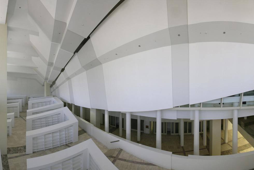 La Biblioteca y el Archivo de Galicia serán los primeros edificios que se abrirán en la Ciudad de la Cultura de Santiago de Compostela.- ÓSCAR CORRAL