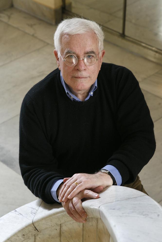 El arquitecto Peter Eisenman, entrevistado en el Círculo de Bellas Artes de Madrid.- ISAAC F. CALVO