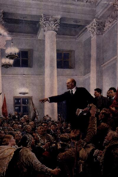 Lenin proclama el poder soviético