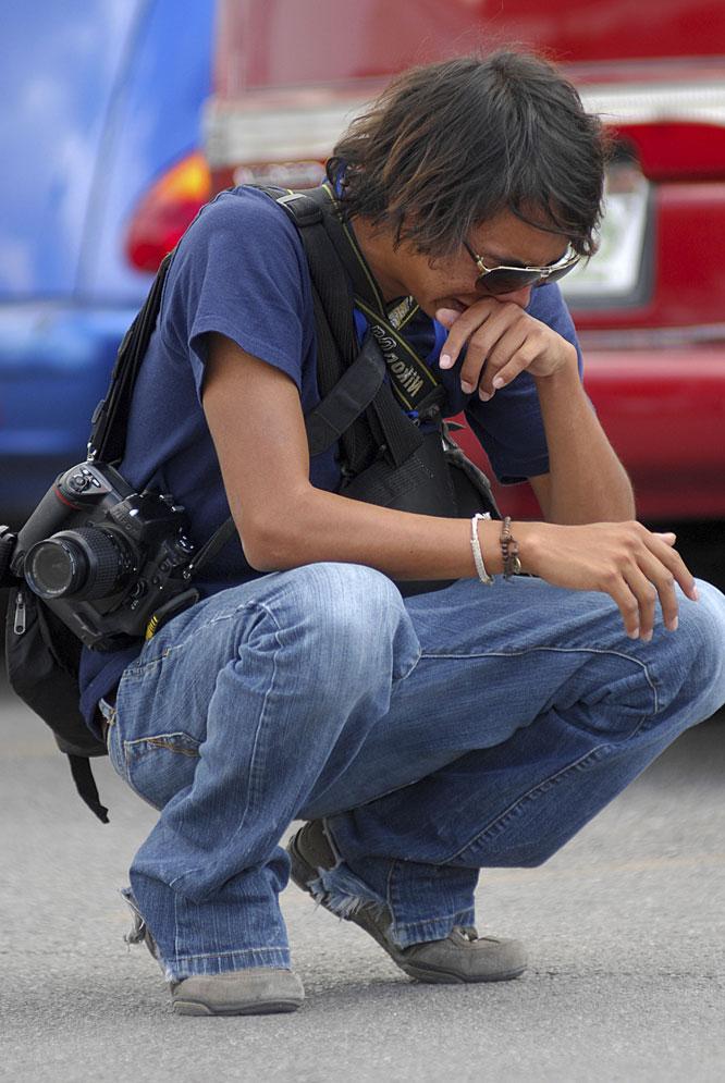 Un fotógrafo del 'Diario de Juárez' llora la muerte de su compañero Luis