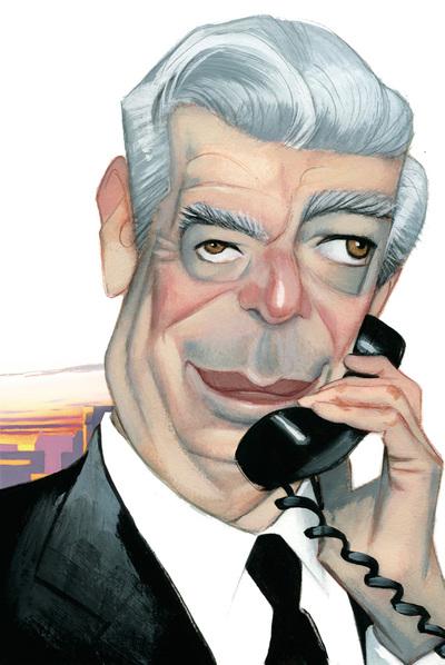 Caricatura de Mario Vargas Llosa
