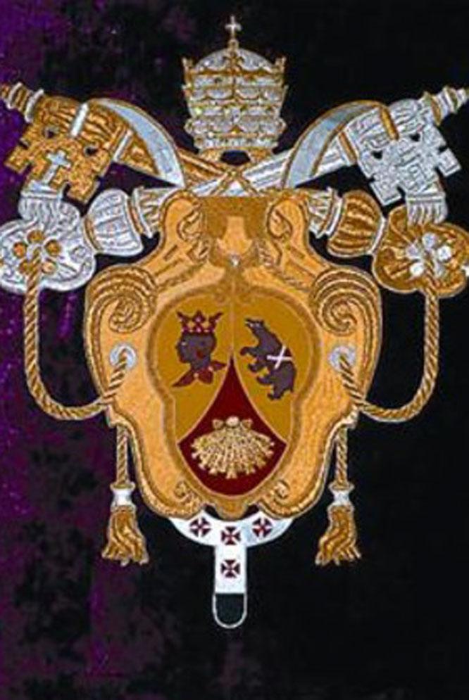 El nuevo escudo de Benedicto XVI