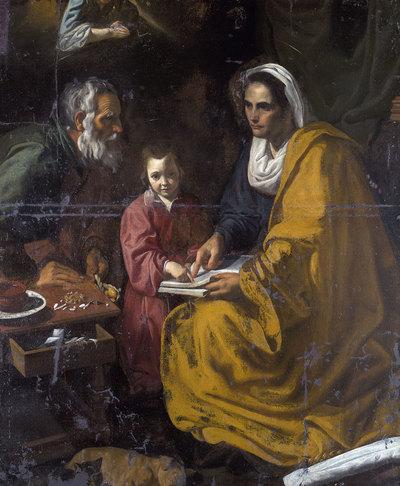 La educación de la Virgen permaneció en un almacén de Yale durante décadas.-