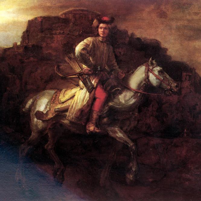 El jinete polaco (circa 1655), atribuido a Rembrandt (1606-1669), en la Frick Collection de Nueva York.-