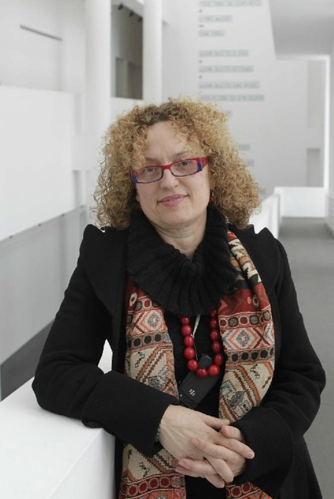 Carolyn Christov-Bakargiev, durante su estancia en Barcelona.- MARCEL·LÍ SÀENZ