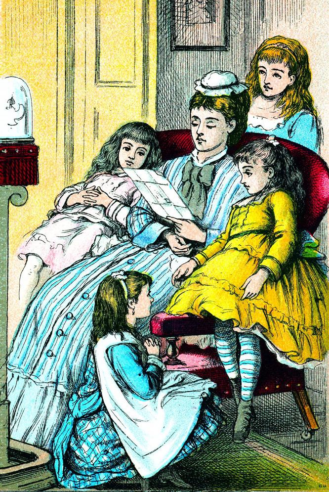 Portada de la edición de <i>Mujercitas,</i> de Louisa May Alcott, de Good Tone Library, de 1880