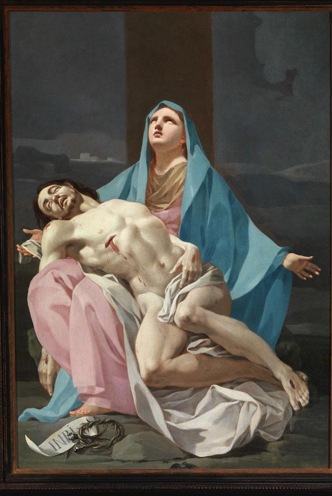 Piedad, óleo hasta ahora considerado de Bayeu y que Ansón Navarro atribuye a un joven Goya de 28 años.-
