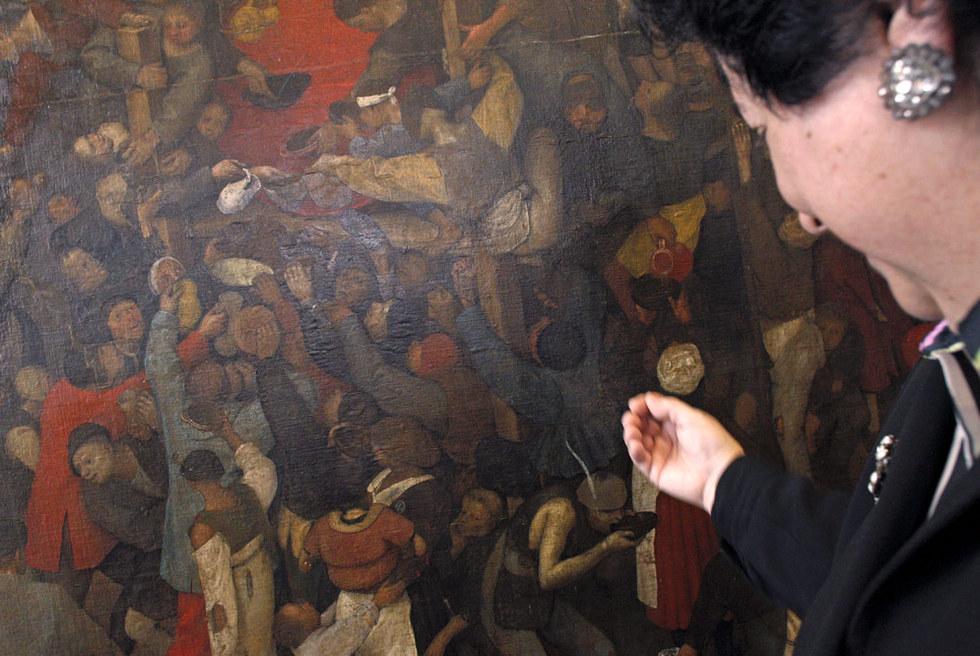 El vino de la fiesta de San Martín, de Pieter Brueghel, El Viejo, descubierta por el museo del Prado.- GORKA LEJARCEGI