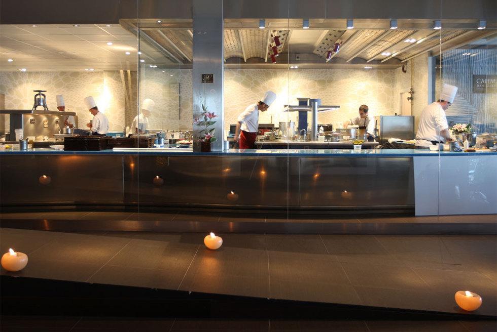 Cocina del restaurante de dani garc a calima edici n - Iluminacion de cocinas ...